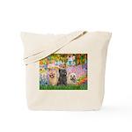 Garden/3 Cairn Terriers Tote Bag