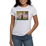 Garden/3 Cairn Terriers Women's T-Shirt