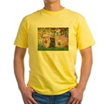 Garden/3 Cairn Terriers Yellow T-Shirt