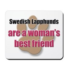 Swedish Lapphunds woman's best friend Mousepad