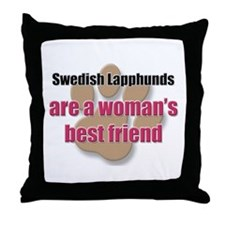 Swedish Lapphunds woman's best friend Throw Pillow