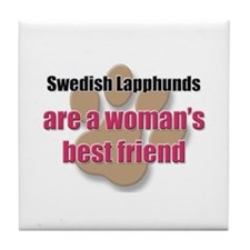 Swedish Lapphunds woman's best friend Tile Coaster