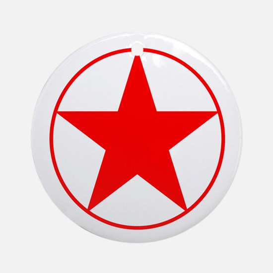 Circle Star Red Ornament (Round)
