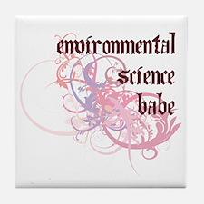 Environmental Science Babe Tile Coaster