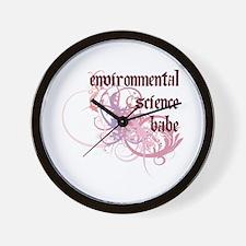 Environmental Science Babe Wall Clock