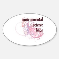 Environmental Science Babe Oval Decal