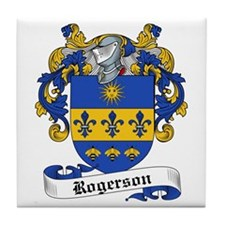 Rogerson Family Crest Tile Coaster