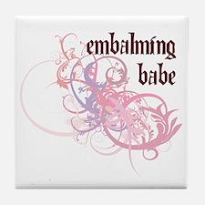 Embalming Babe Tile Coaster