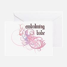 Embalming Babe Greeting Card