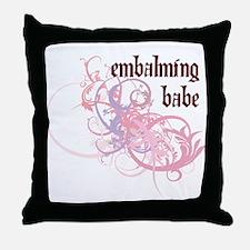 Embalming Babe Throw Pillow