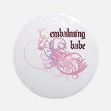 Embalming Babe Ornament (Round)