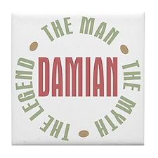 Damian Man Myth Legend Tile Coaster