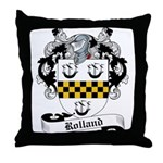 Rolland Family Crest Throw Pillow