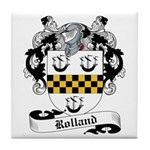 Rolland Family Crest Tile Coaster
