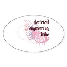 Electrical Engineering Babe Oval Decal