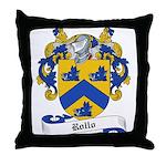Rollo Family Crest Throw Pillow