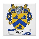 Rollo Family Crest Tile Coaster