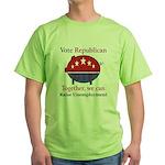 Unemployment Pig Green T-Shirt