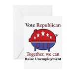 Unemployment Pig Greeting Cards (Pk of 10)