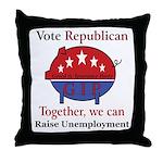 Unemployment Pig Throw Pillow