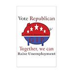Unemployment Pig Mini Poster Print