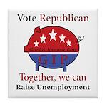 Unemployment Pig Tile Coaster