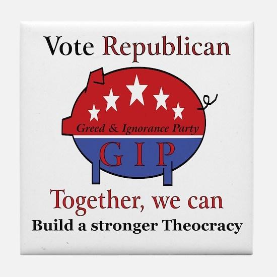 Theocratic Pig Tile Coaster