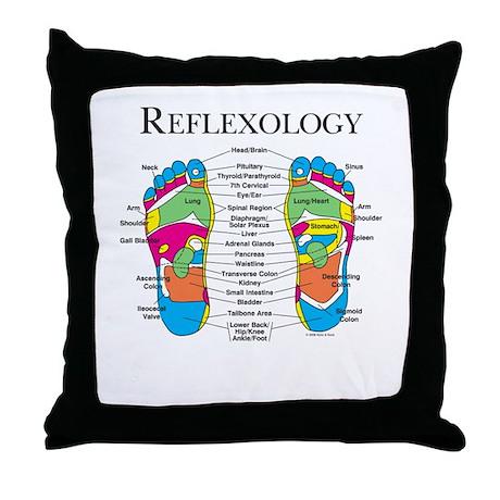Custom Foot Reflexology Logo Pillow