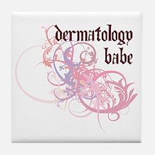 Dermatology Babe Tile Coaster