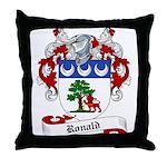 Ronald Family Crest Throw Pillow