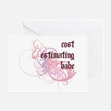 Cost Estimating Babe Greeting Card
