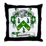 Rowentree Family Crest Throw Pillow
