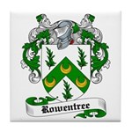 Rowentree Family Crest Tile Coaster