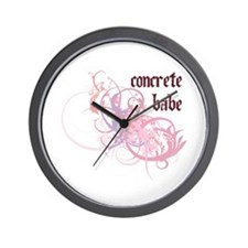 Concrete Babe Wall Clock