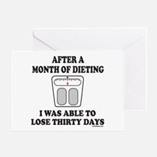 WEIGHT LOSE Greeting Card