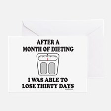 WEIGHT LOSE Greeting Cards (Pk of 10)