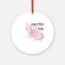 Concertina Babe Ornament (Round)