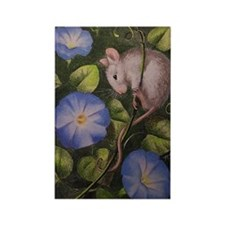 Morning Glory Mouse Rectangle Magnet