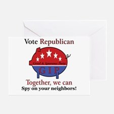 Spy Pig Greeting Card