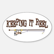 Keeping it Reel Oval Decal