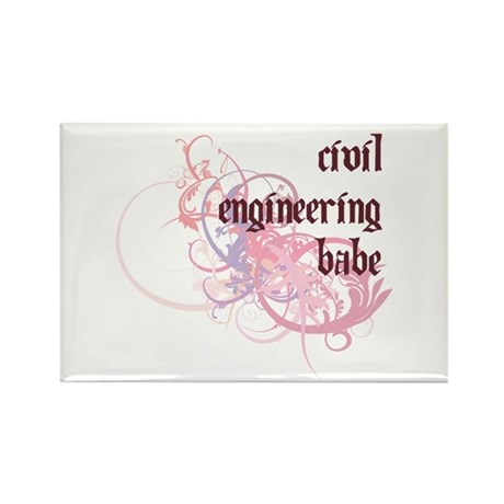 Civil Engineering Babe Rectangle Magnet (10 pack)