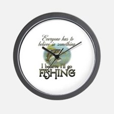 Believe in Fishing Wall Clock