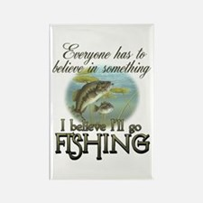 Believe in Fishing Rectangle Magnet