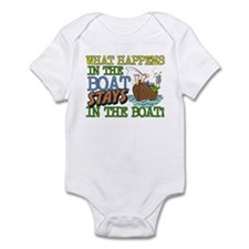 STAYS IN THE BOAT Infant Bodysuit