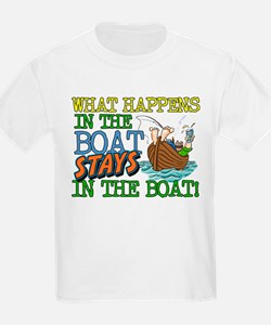 STAYS IN THE BOAT T-Shirt