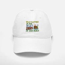 STAYS IN THE BOAT Baseball Baseball Cap
