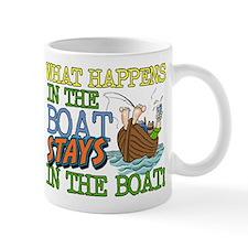 STAYS IN THE BOAT Mug