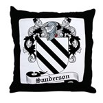 Sanderson Family Crest Throw Pillow