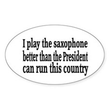 Saxophone Oval Decal