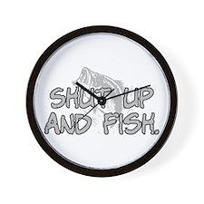 Shut up and fish. Wall Clock